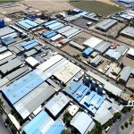 عکس هوایی یکی از شهرک صنعتی اصفهان